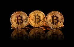 Bitcoin BTC the new virtual internet Cryptocurrency isolated on Stock Photography