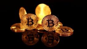 Bitcoin BTC nieuwe virtuele Internet-cryptocurrency stock video