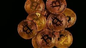 Bitcoin BTC nieuwe virtuele Internet-cryptocurrency stock videobeelden