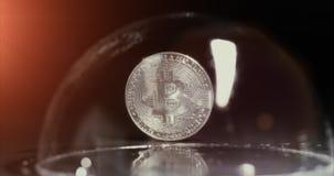 A bitcoin bubble bursts during a crisis.