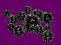 Bitcoin bubbles. When is the Bitcoin bubble going to burst Royalty Free Stock Images