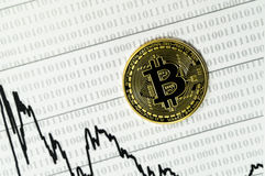 Bitcoin, calculator and dollars calculations of the new cryptocurrency. Litecoin, dollars calculations of the new cryptocurrency Stock Image