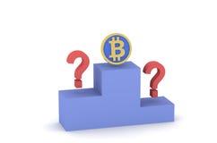 Bitcoin, campeão Imagens de Stock