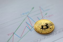 Bitcoin chart business great design for any purposes stock photos