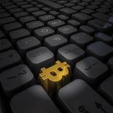 Bitcoin chave do dinheiro Fotos de Stock
