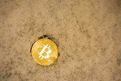 Bitcoin and Christmas holidays. Business in holidays concept. Bitcoin and Christmas holidays. Business in holidays concept Stock Image