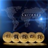 A bitcoin coin on the black background. Bitcoin coin on the black background royalty free stock photo