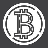 Bitcoin coin glyph icon, business and finance Stock Images