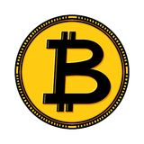 Bitcoin coin illustration Stock Photo