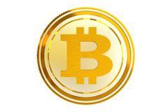 Bitcoin Coin Isolated Royalty Free Stock Photos
