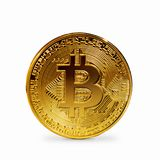Bitcoin coin isolated. On a white background Stock Photos