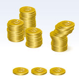 Bitcoin Coin Stack Vector Icons Stock Photos