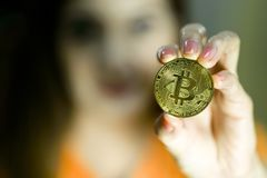 Bitcoin Coins Royalty Free Stock Photo