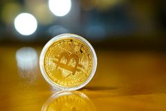 Bitcoin Coins Royalty Free Stock Photography