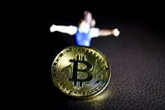 Bitcoin Coins Royalty Free Stock Photos