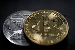 Bitcoin Coins Stock Images