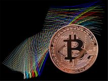 Bitcoin and color Royalty Free Stock Photography