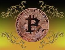 Bitcoin com ornamento Fotografia de Stock