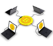 Bitcoin. Computer generated photo of a Bitcoin electronic currency Royalty Free Stock Photo