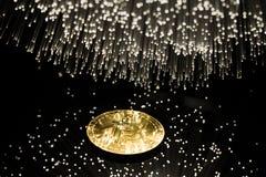 Bitcoin con la cadena Foto de archivo