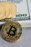 Bitcoin concept coin Royalty Free Stock Photography
