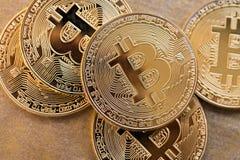 Bitcoin concept coin Stock Photography