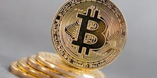Bitcoin concept coin Royalty Free Stock Photos