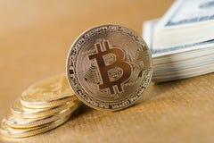 Bitcoin concept coin Royalty Free Stock Image
