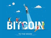 Bitcoin concept illustration Stock Image