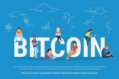 Bitcoin concept illustration Stock Photos