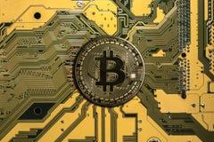 Bitcoin cripto da moeda fotografia de stock