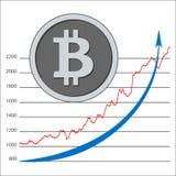 Bitcoin Crypto aislado de la moneda - moneda digital Horario de Bitcoin Fotos de archivo libres de regalías