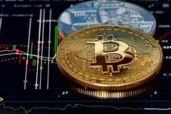 Crypto currency Bitcoin stock images