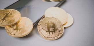 Bitcoin crypto currency Stock Image