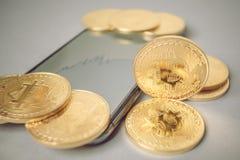 Bitcoin crypto currency Royalty Free Stock Photo