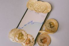 Bitcoin crypto currency Royalty Free Stock Image