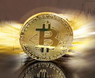 Bitcoin crypto currency coin ,financial electronic currency coin Royalty Free Stock Photo