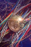 Bitcoin crypto currency coin royalty free stock photo
