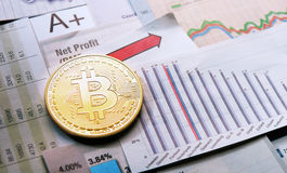 Bitcoin crypto currency  diagram Stock Photography