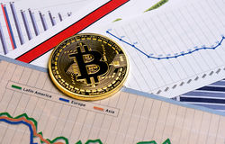 Bitcoin crypto currency  diagram Stock Images