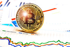 Bitcoin crypto currency  diagram Royalty Free Stock Photography