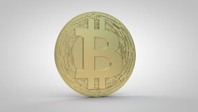 Bitcoin Crypto Currency-Gold Stock Photo