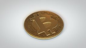 Bitcoin Crypto Currency-Gold Laying Down stock photo
