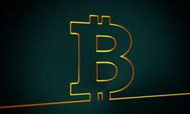 Bitcoin crypto currency symbol Royalty Free Stock Photography