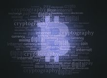 Bitcoin crypto currency word cloud Stock Photography