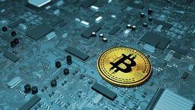 Bitcoin, crypto devise, argent électronique, devise virtuelle, transitions Image libre de droits