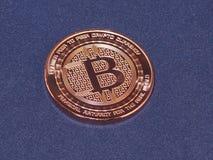 Bitcoin Crypto mynt, faktisk valuta Arkivbild