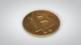 Bitcoin Crypto Valuta-guld som ner lägger Arkivfoto