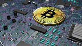 Bitcoin, crypto waluta, elektroniczny pieniądze, wirtualna waluta, przemiany Obrazy Stock