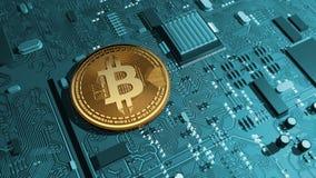 Bitcoin, crypto waluta, elektroniczny pieniądze, wirtualna waluta, przemiany Zdjęcia Royalty Free